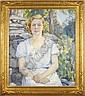 Portrait of a seated lady , Agnes Millen Richmond, Click for value