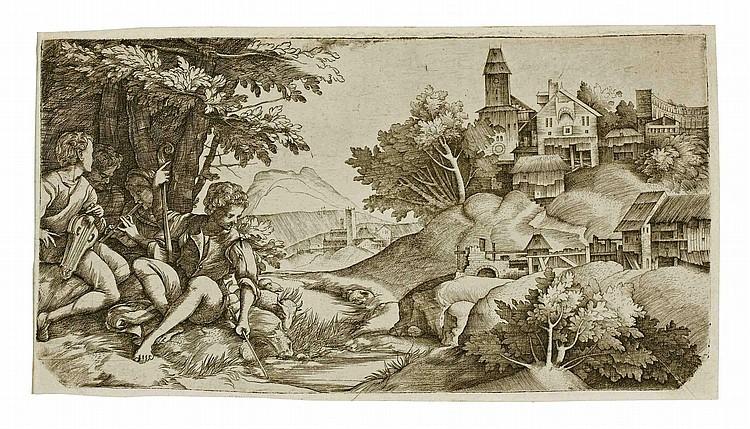 Giulio Campagnola (1482-1515) and Domenico Campagnola (1500-1564)