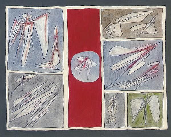 Achille Perilli (American, b. 1927)