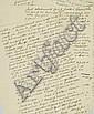 [CÉLESTIN NANTEUIL (1813-1873)]. Copie anonyme de la lettre de Célestin Nanteuil adressée à Victor Hugo. Datée