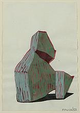 KEN PRICE (1935-2012) Sans titre mine de plomb, crayon de couleurs et aquarelle sur papier 21.6 x 15 cm.