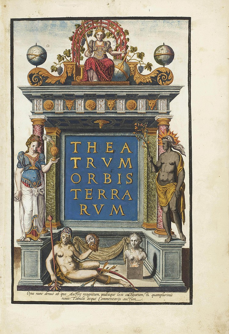 ORTELIUS, Abraham (1527-1598).  Theatrum orbis terrarum.  Antwerp: Anthonis Coppens van Diest, 1573.