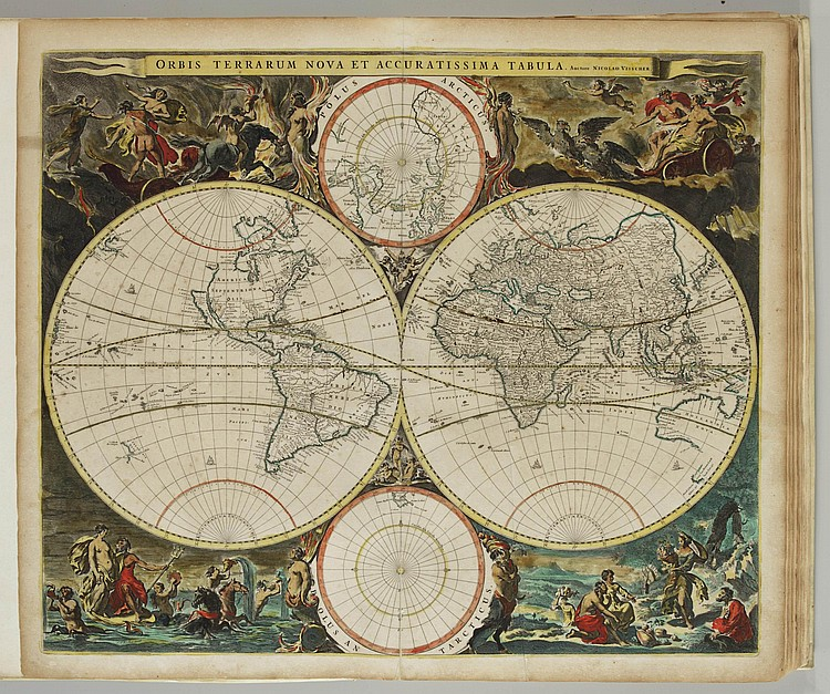 VISSCHER, Nicolaes (1649-1702) and Frederick DE WIT (1629/30 - 1706). Composite Atlas. Amsterdam: Visscher and others, ca. 1685.