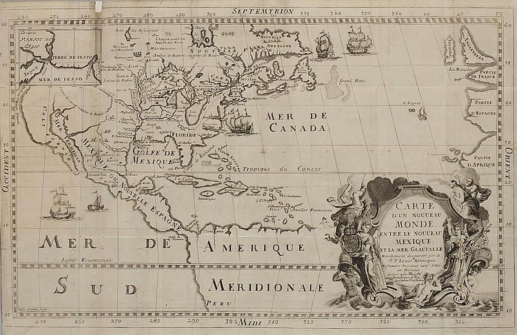 HENNEPIN, Louis (1640-1705?).  Nouveau Voyage d'un Pais plus grande que L'Europe.  Utrecht: [E. Voskuyl for] Antoine Schouten, 1698.