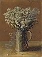Wild flax in a pewter tankard, Julij Jul'evič (1882) Klever, Click for value
