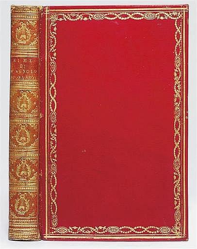 MICHELANGELO BUONAROTTI (1475-1564).  Rime ... con una lezione di Benedetto Varchi e due di Mario Guiducci sopra di esse.  Florence: Domenico Maria Manni, 1726.