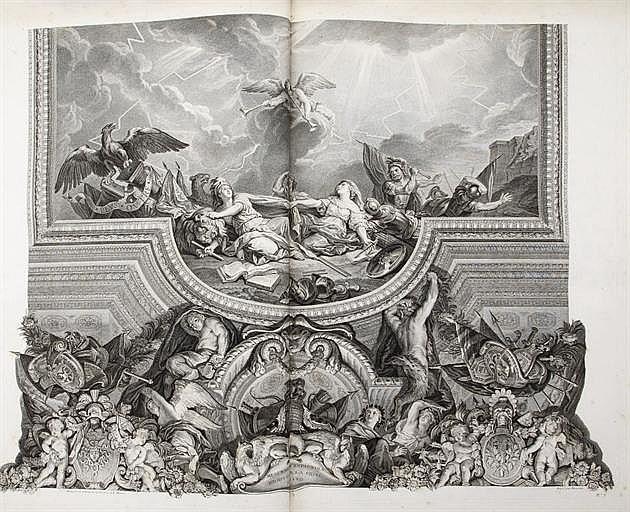 [CABINET DU ROI] -- [LE BRUN, Charles (1619-1690). La Grande galerie de Versailles et les deux salons qui l'accompagnent, peints par Charles Le Brun, premier ministre de Louis XIV, dessinés par Jean-Baptiste Massé, peintre, et gravés sous ses