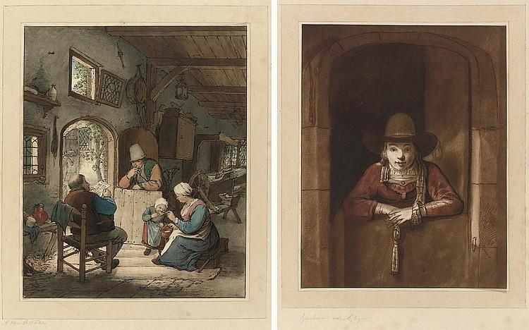 PLOOS VAN AMSTEL, Cornelis (1726-1798). [ Collection d'imitations de dessins d'après les principaux maîtres Hollandais et Flamands, commencée par Ploos van Amstel continuée au nombre de cent morceaux . London: C. Josi, 1821-1828].