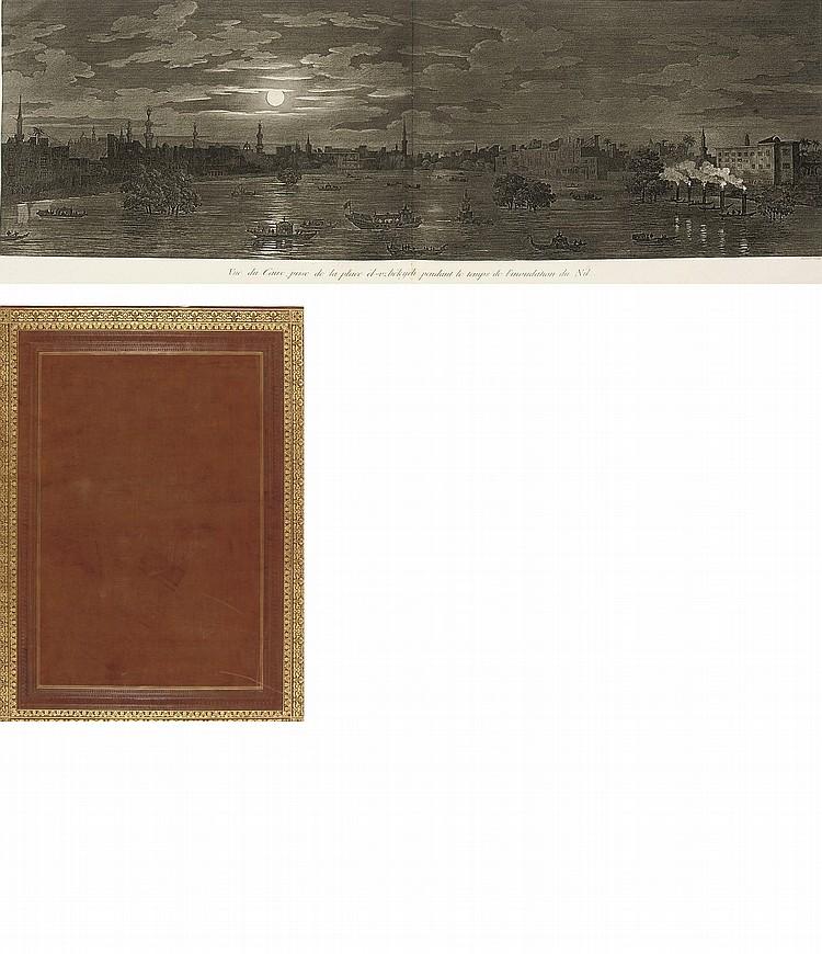 DENON, Dominique Vivant, Baron de (1747-1825).  Voyage dans la Basse et la Haute Égypte . Paris: Pierre Didot l'âiné, 1802.