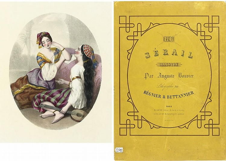 BOUVIER, Auguste (1827-1881).  Le Sérail . Paris and London: Lemercier for H. Gache and C. Barbe [c.1840s].