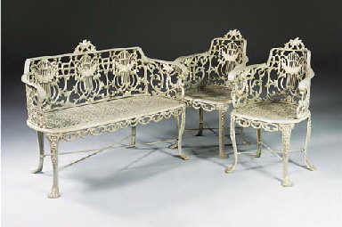 A suite cast iron furniture