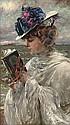 Femme lisant, Fernand Toussaint, Click for value