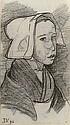 Jeune Bretonne - Young girl from Brittany, Jan Verkade, Click for value