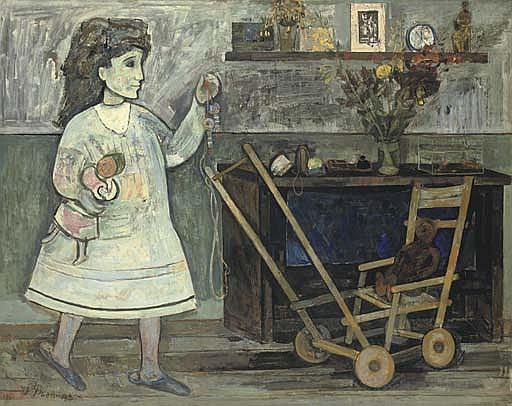 Aurélie à la poussette