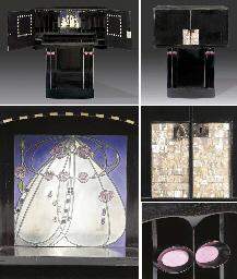 A Highly Important Ebonised Mahogany Writing Cabinet