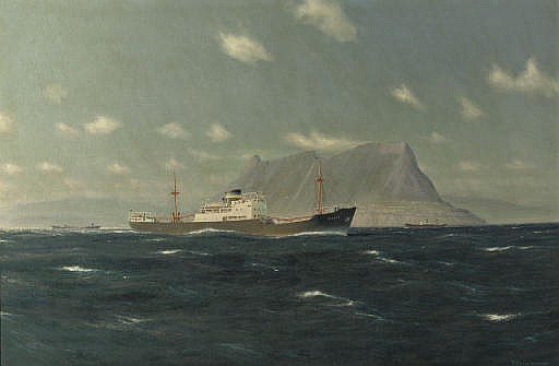 The trawler 'Olbers' off Gibraltar