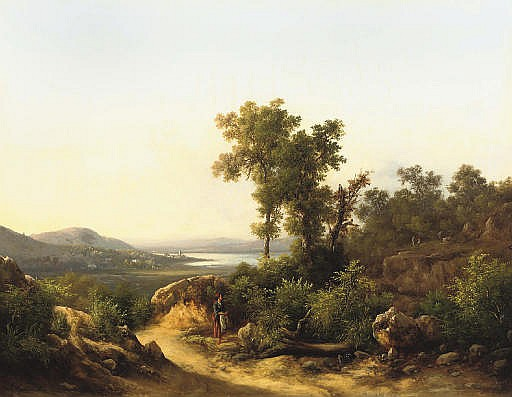 Motivo apresso il lago Trasimeno: a view of lake Trasimeno, Italy