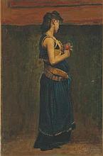 JEAN-PAUL LAURENS (FOURQUEVAUX 1838-1921 PARIS) Etude de femme mérovingienn
