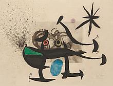 JOAN MIRO (1893- 1986) L'Invention du Regard (Dupin 537) Eau-forte, aquatin