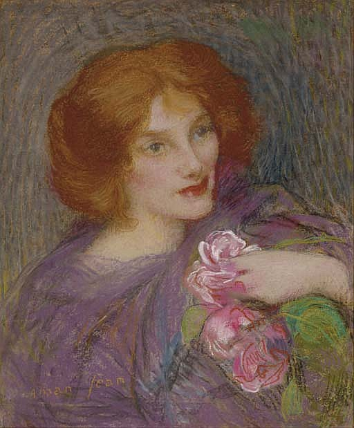 Young beauty with flowers