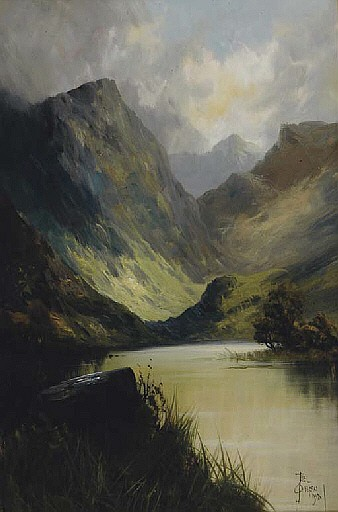 View of a Loch in Scotland; and a companion painting