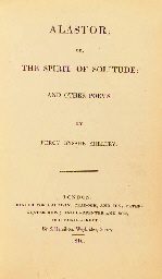 SHELLEY, Percy Bysshe (1792-1822). Alastor; or, the Spirit of Solitude: and Other Poems. London: S. Hamilton for Baldwin, Cradock and Joy and Carpenter and Son, 1816.