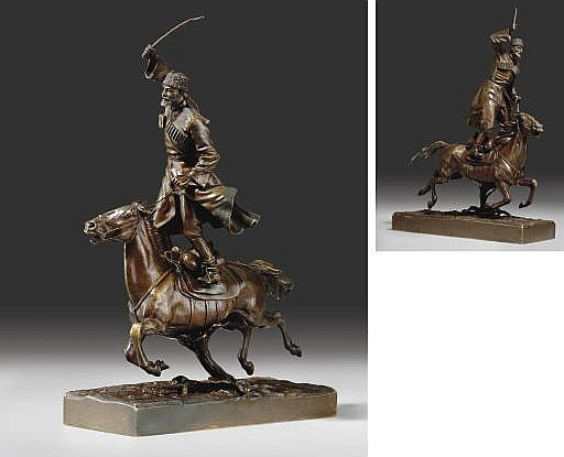 A Bronze Figure of a Cossack Warrior