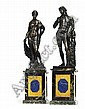 A PAIR OF BRONZE FIGURES OF AMPHITRITE AND BACCHUS , Michel Anguier, Click for value