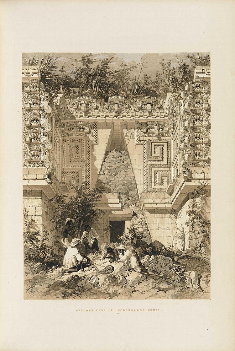 CATHERWOOD, Frederick (1799-1854).  Views of Ancient Monuments in Central America, Chiapas and Yucatan.  London: F Catherwood, 1844.