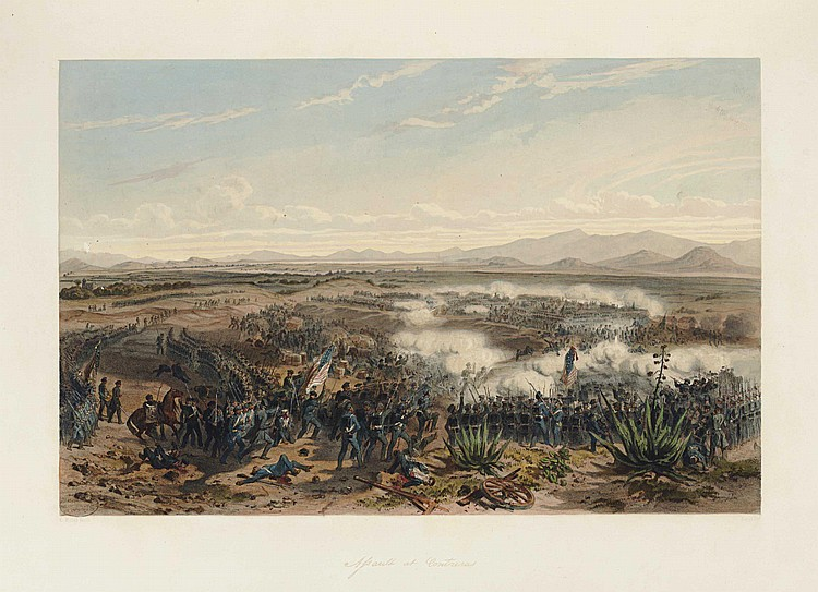 KENDALL, George Wilkins (1809-1867). The War Between the United States and Mexico illustrated, Embracing Pictorial Drawings of All the Principal Conflicts by Carl Nebel...With a Description of Each Battle. New York & Philadelphia: Appleton,