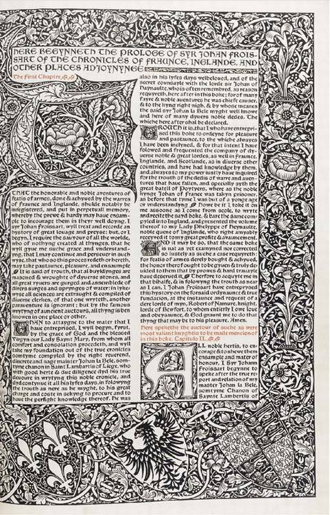 MORRIS, William and the KELMSCOTT PRESS. Two trial pages of the projected edition of Lord