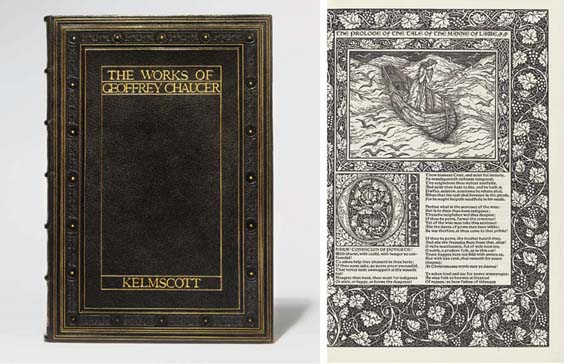 MORRIS, William (1834-1896) and the KELMSCOTT PRESS -- Geoffrey CHAUCER (?1340-1400). The