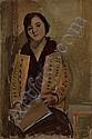 Sitzende Frau in gelber Jacke, 1928, Fritz Glarner, Click for value