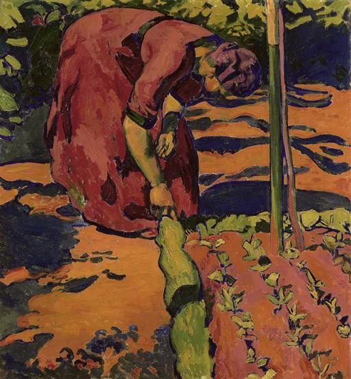 Frau im Garten, 1911