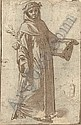 A Dominican saint with subsidiary studies of a landscape and a face, Ridolfo Ghirlandaio, Click for value