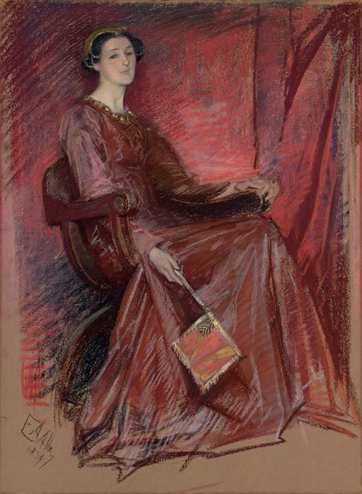 Portrait of a Woman Wearing an Elizabethan Headdress