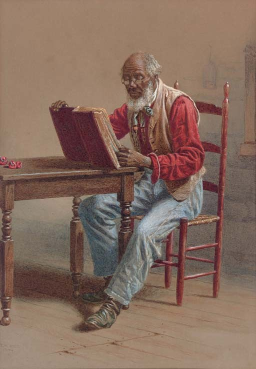 A Seated Man Reading; A Seated Man with a Saw: Two Works