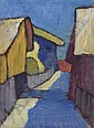 Dorfstrasse in Blau, Gabriele Munter, Click for value