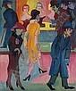 Strassenbild vor dem Friseurladen, Ernst Ludwig Kirchner, Click for value