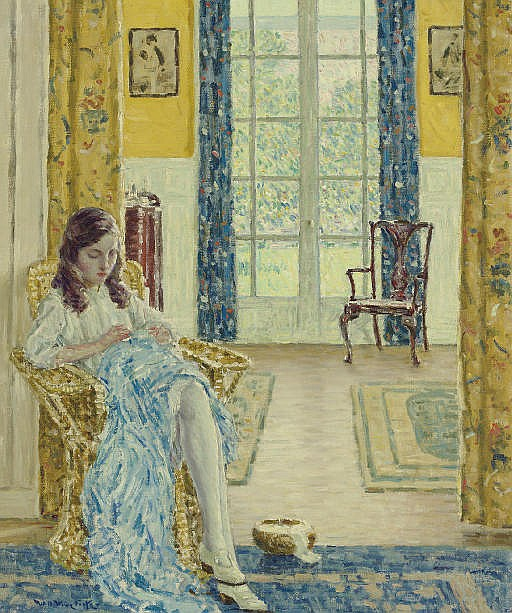 The Artist's Daughter at Home