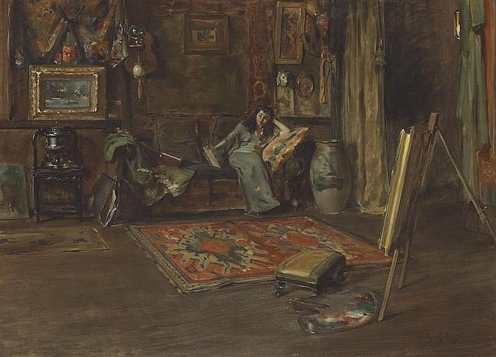 Interior of William Merritt Chase's Tenth Street Studio