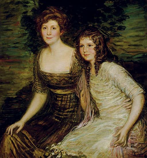 Portrait of the Wife and Daughter of the Governor of Louisiana