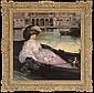 A gondola ride, Albert Besnard, Click for value