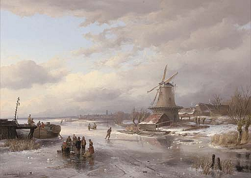 Refreshments on a frozen Dutch waterway
