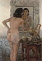 An Algerian beauty in front of the mirror, Emile Deckers, Click for value