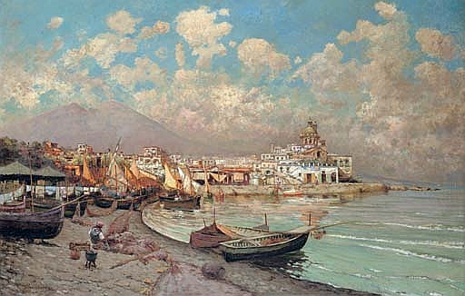 Mount Vesuvius from Procida