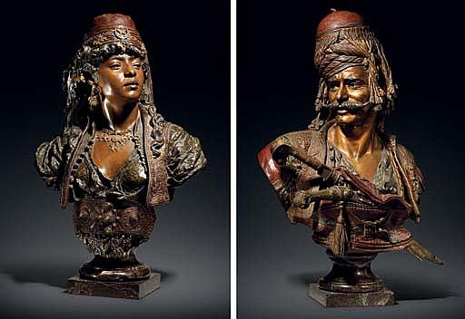 Janissaire du Sultan Mahmoud II and Jeune fille du Caire
