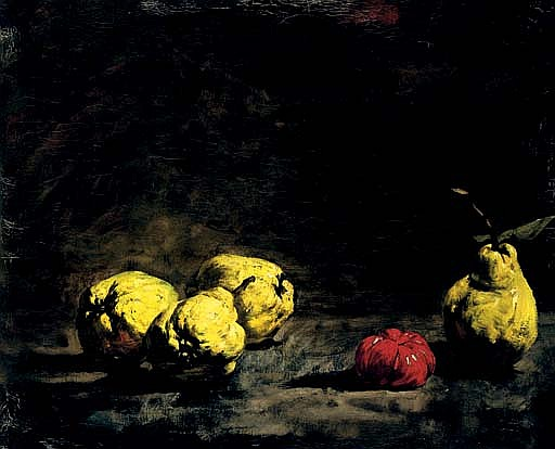Still life with pears and a quince