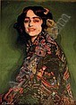 Cándida con mantón chinesco (Candida wearing an oriental shawl), Ignacio Zuloaga, Click for value