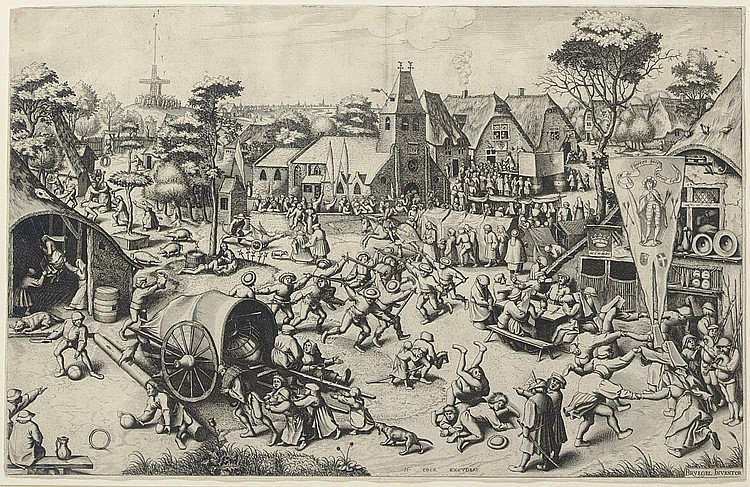 After Pieter Bruegel the Elder ( circa  1525-1569) by Jan or Lucas van Doetecum